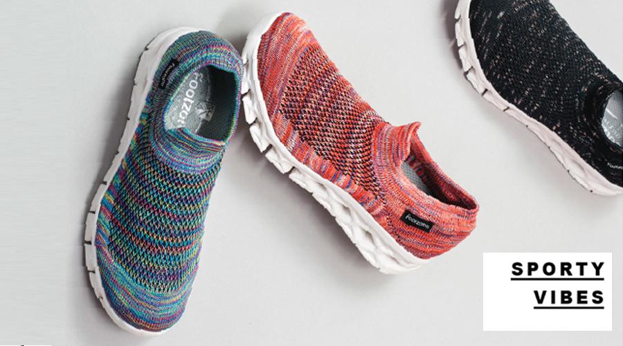 Footzone 情侣款飞织运动鞋